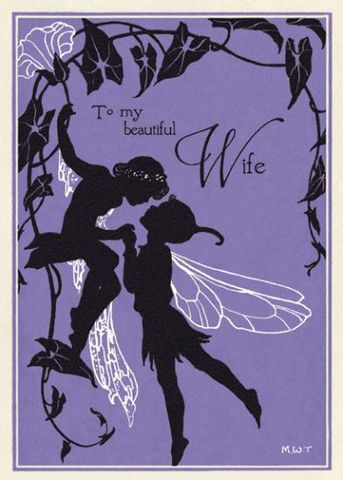 Beautiful,Wife,Fairy,Anniversary,Card,buy wife anniversary cards online, wonderful wife aniversary card, cards for wedding anniversaries, wife anniversary card, special anniversary card for wife, fairy anniversary card, fairies card, fairy card, margaret tarrant the kiss fairies