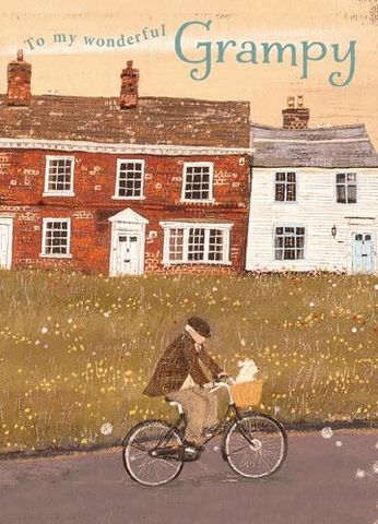 Wonderful,Grampy,Birthday,Card,buy grampy birthday card online, cards for grampy, grandad birthay card, grandpa birthday card, grampy birthday cards, lucy grossmith the bike ride
