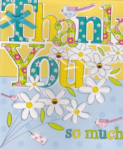 Hand,Finished,Thank,You,Card,-,Large,,Luxury,buy large thank you very much card online, large thank you cards, large thank you so much cards, cards for thanks