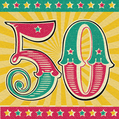 Retro 50th birthday card karenza paperie retro 50th birthday card product images bookmarktalkfo Choice Image