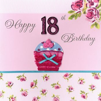 Hand,Finished,Cupcake,18th,Birthday,Card,-,Large,,Luxury,buy 18th birthday card online, card for 18th, eighteenth birthday card, age eighteen card, age 18 card, girls 18th birthday card, boys 18th birthday card, large 18th card, luxury 18th card