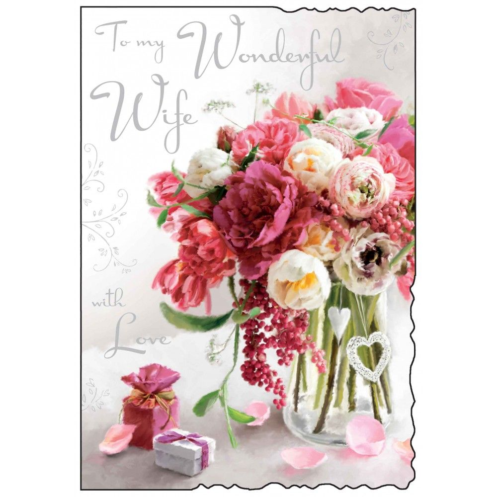 Wonderful Wife Birthday Card Karenza Paperie
