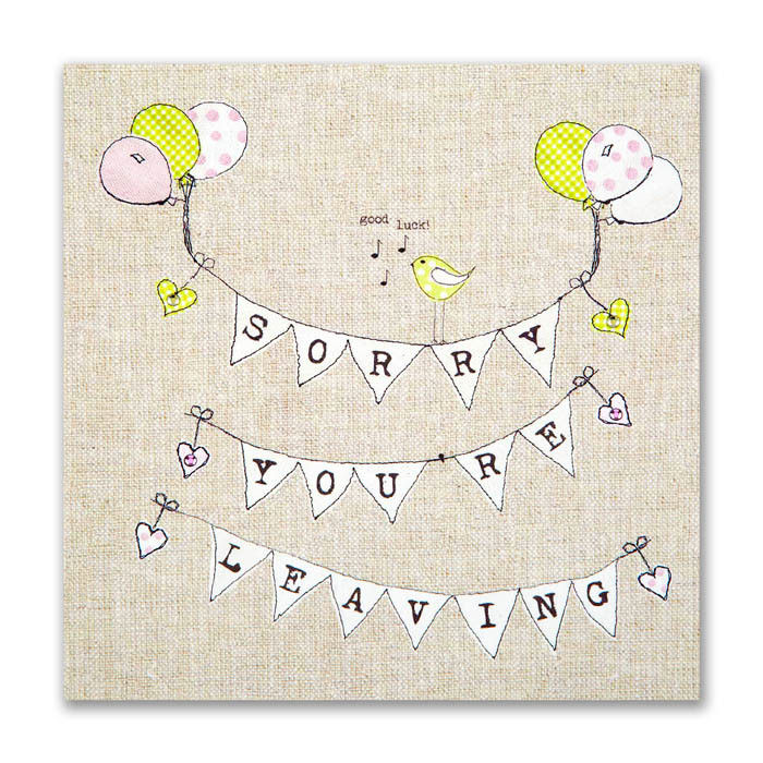 Hand Finished Sorry You're Leaving Card - product images