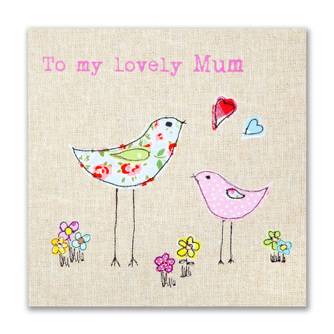 Hand,Finished,Birds,Mum,Card,buy mum birthday cards for her online, buy mothers day cards online, buy mothering sunday cards online, cards for mums, mummy cards, cards for mummies, cards for parents, birds birthday card, bird birthday card, hearts birthday card