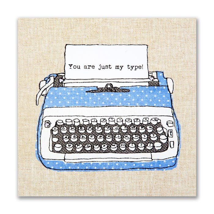Hand Finished Typewriter Love Card - product images