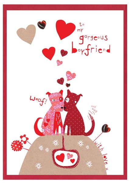 Hand Finished Gorgeous Boyfriend Card - product images