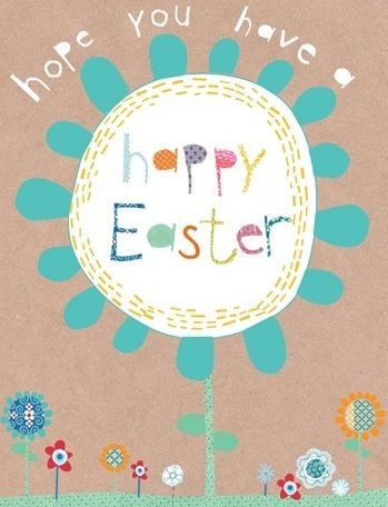 Pack of Five Easter Cards - Colourful Flowers - product images