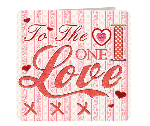 To,The,One,I,Love,Valentine's,Day,Card,buy valentines day card online, buy valentine's day cards online for the one i love, to the one i love valentines card, valentine's day cards for wives, wife, husbands, husband, hubby, boyfriend, girlfriend, fiance, fiancee, hearts, kisses valentines day