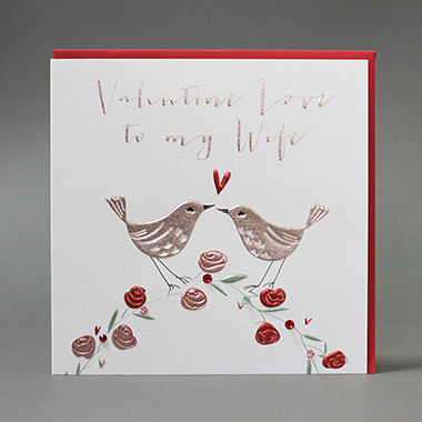 Handmade Valentine Love To My Wife Valentine's Day Card - product images  of
