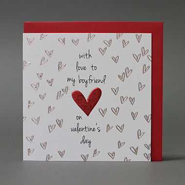 With Love To My Boyfriend Valentine's Day Card - product images  of