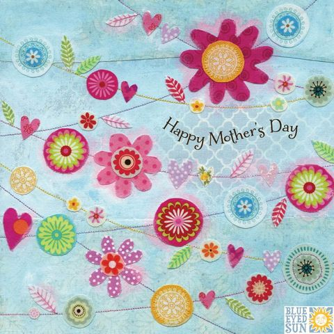 Flower,Bunting,Mother's,Day,Card,buy flowers mothers day card online, buy lovely mum mothering sunday card online, mothers day cards with floral bunting, happy mothers day card, bunting, hearts lovely mum mothers day card, mothering sunday card for mum, cards for mums, mothers day cards