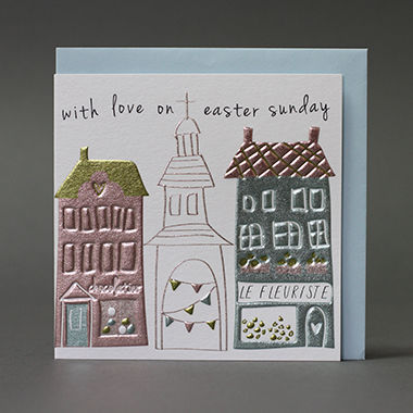 Church,With,Love,On,Easter,Sunday,Card,buy easter sunday cards online, buy easter cards online, buy cards for easter sunday online, easter sunday cards, cards for easter, church easter sunday card, bunting easter card, choclatier, le fleurist, florist easter card, shops easter card, chocolate