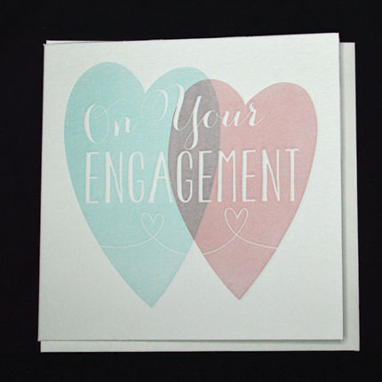 Hearts,On,Your,Engagement,Card,buy engagement card online, buy hearts engagement cards online, buy letterpress cards online, letterpress engagement card, you are engaged card, cards for engagements, on your engagement card, engagement cards