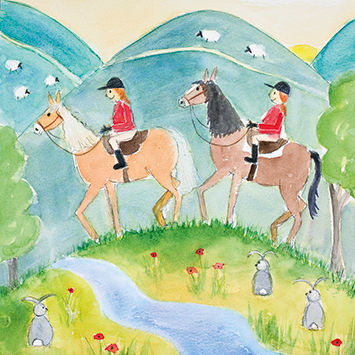 Ponies,Blank,Greetings,Card,buy ponies blank greetings card online, buy pony cards online, buy horse cards online, buy cards with horses online, childrens card, girls card with pony, girls card with horse, pony club card,