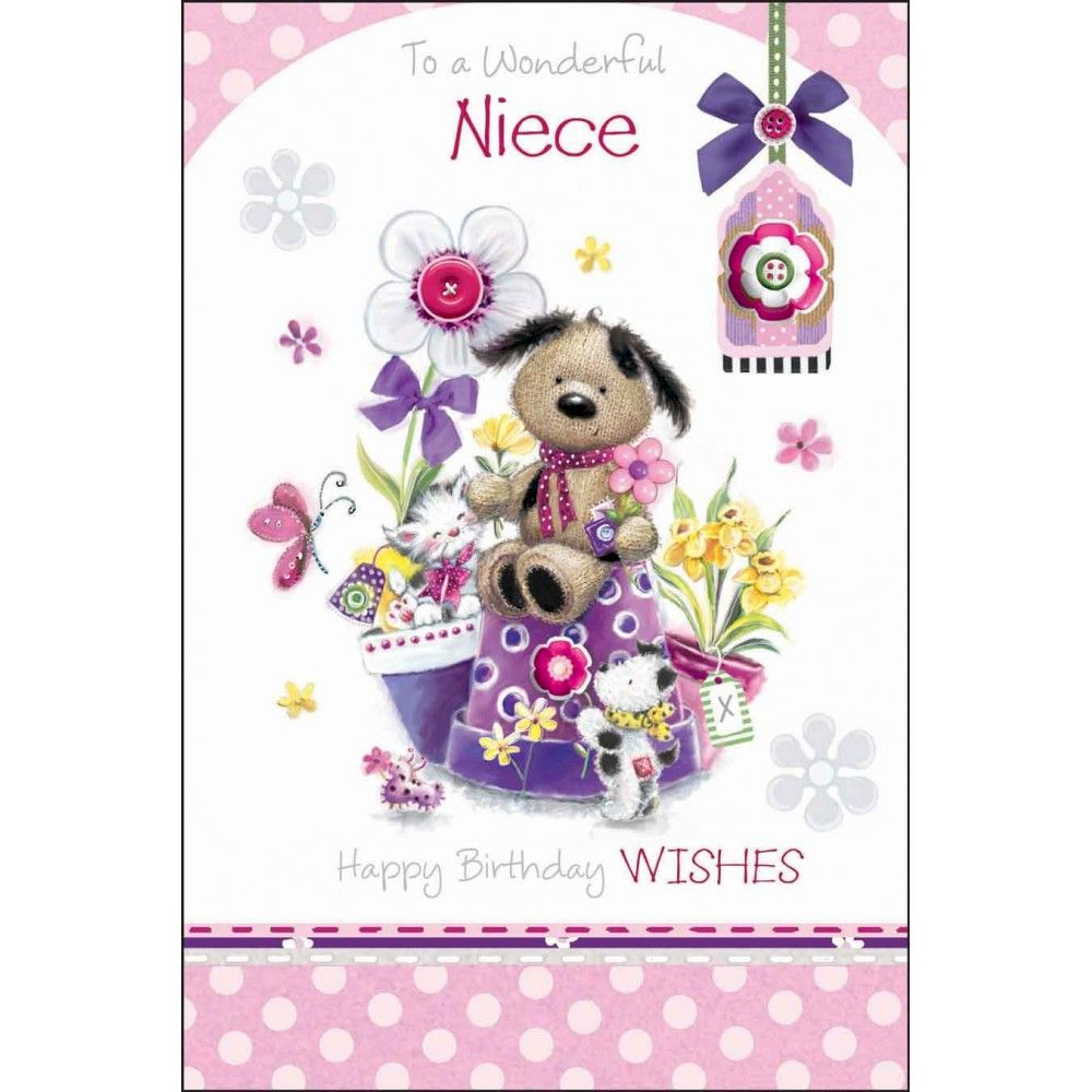 To A Wonderful Niece Birthday Card Karenza Paperie