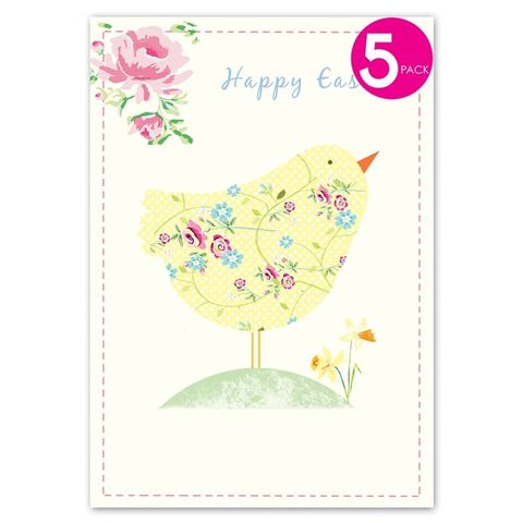 Pack,of,Five,Chick,&,Flowers,Easter,Cards,buy easter cards online, buy packs of easter cards online, buy easter packs of cards online, packs of cards for easter, card for easter, easter sunday card, happy easter card, packs of easter cards, easter cards, easter card packs, easter eggs card, decor