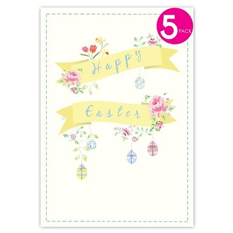 Pack,of,Five,Easter,Eggs,&,Flowers,Cards,buy easter cards online, buy packs of easter cards online, decorated easter tree card, decorated tree for easter, buy easter packs of cards online, packs of cards for easter, card for easter, easter sunday card, happy easter card, packs of easter cards, e
