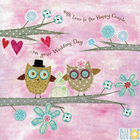 Owls,&,Wedding,Cake,To,The,Happy,Couple,On,Your,Day,Card,buy wedding day cards online, cards for weddings, to the happy couple wedding cards, buy cards online for weddings, buy owl wedding day cards, wedding cards with owls, wedding cake wedding day card, bird wedding cards, love birds wedding day card