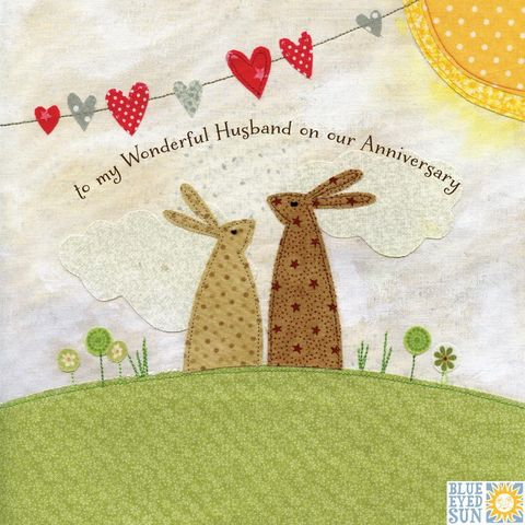 Bunny,Rabbits,Wonderful,Husband,Anniversary,Card,buy husband anniversary cards online, buy wedding anniversary cards for husbands, husband cards, bunny rabbit cards for husbands, rabbits anniversary card for husband, husband anniversary card with bunnies, hubby anniversary card, bunny rabbiit, rabbits,