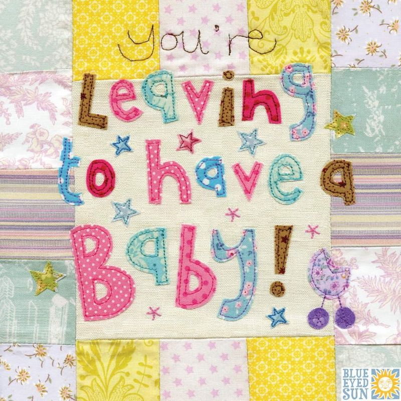 Leaving To Have A Baby Card - Large, luxury card - product images