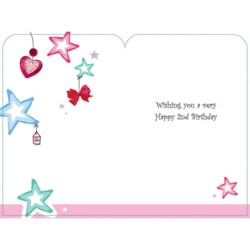 Happy Birthday 2 Today Girls Card Karenza Paperie Inside