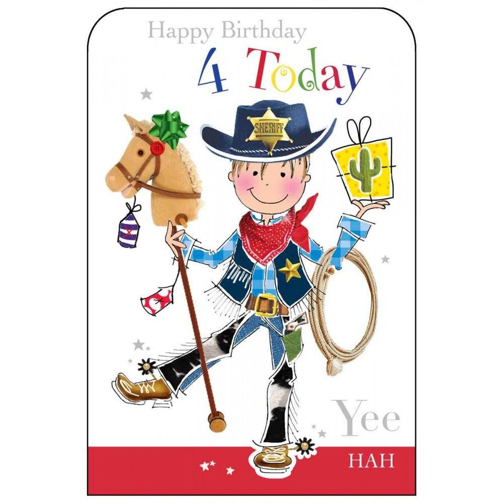 Happy birthday 4 today boys birthday card karenza paperie happy birthday 4 today boys birthday card m4hsunfo
