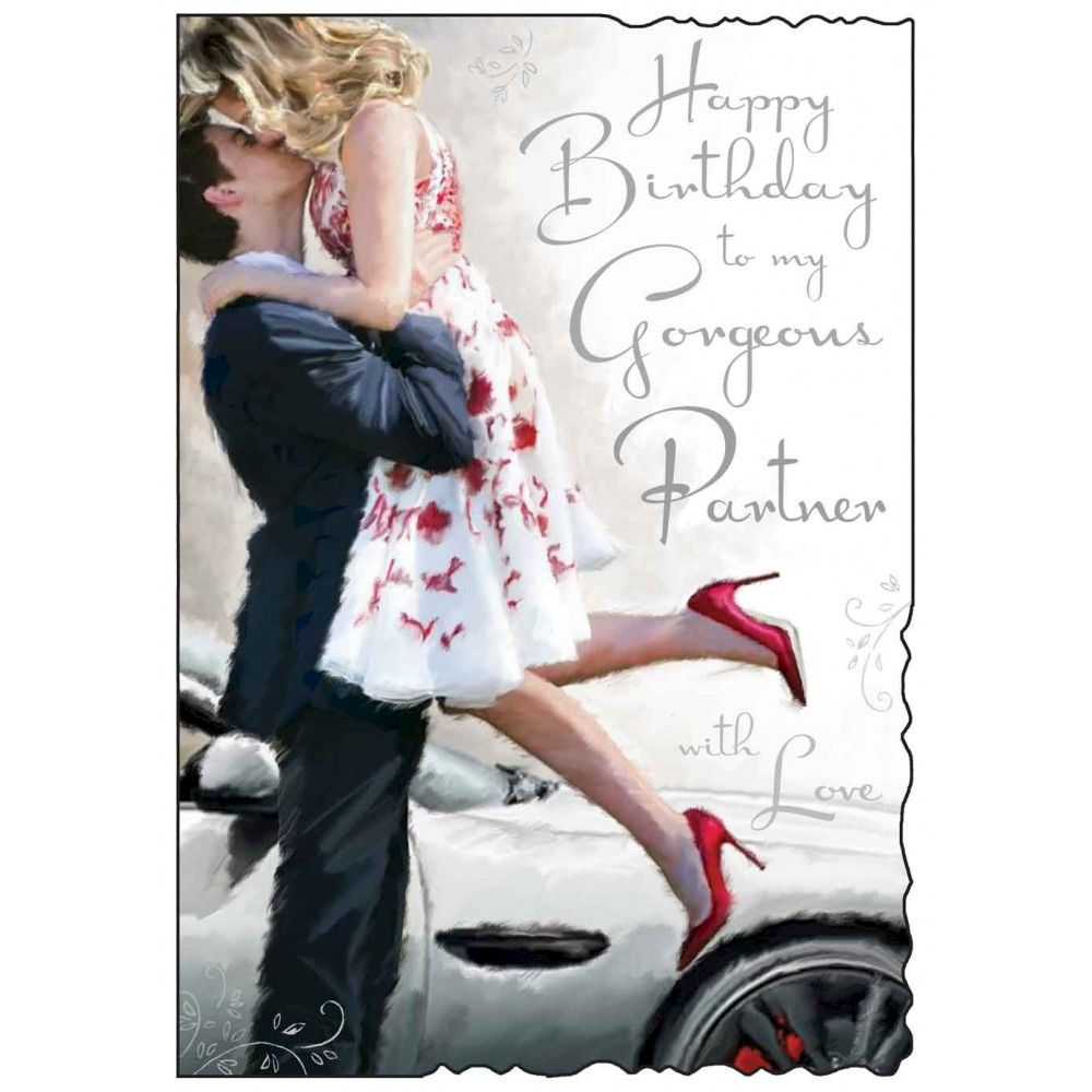 To my gorgeous partner birthday card karenza paperie to my gorgeous partner birthday card bookmarktalkfo Image collections