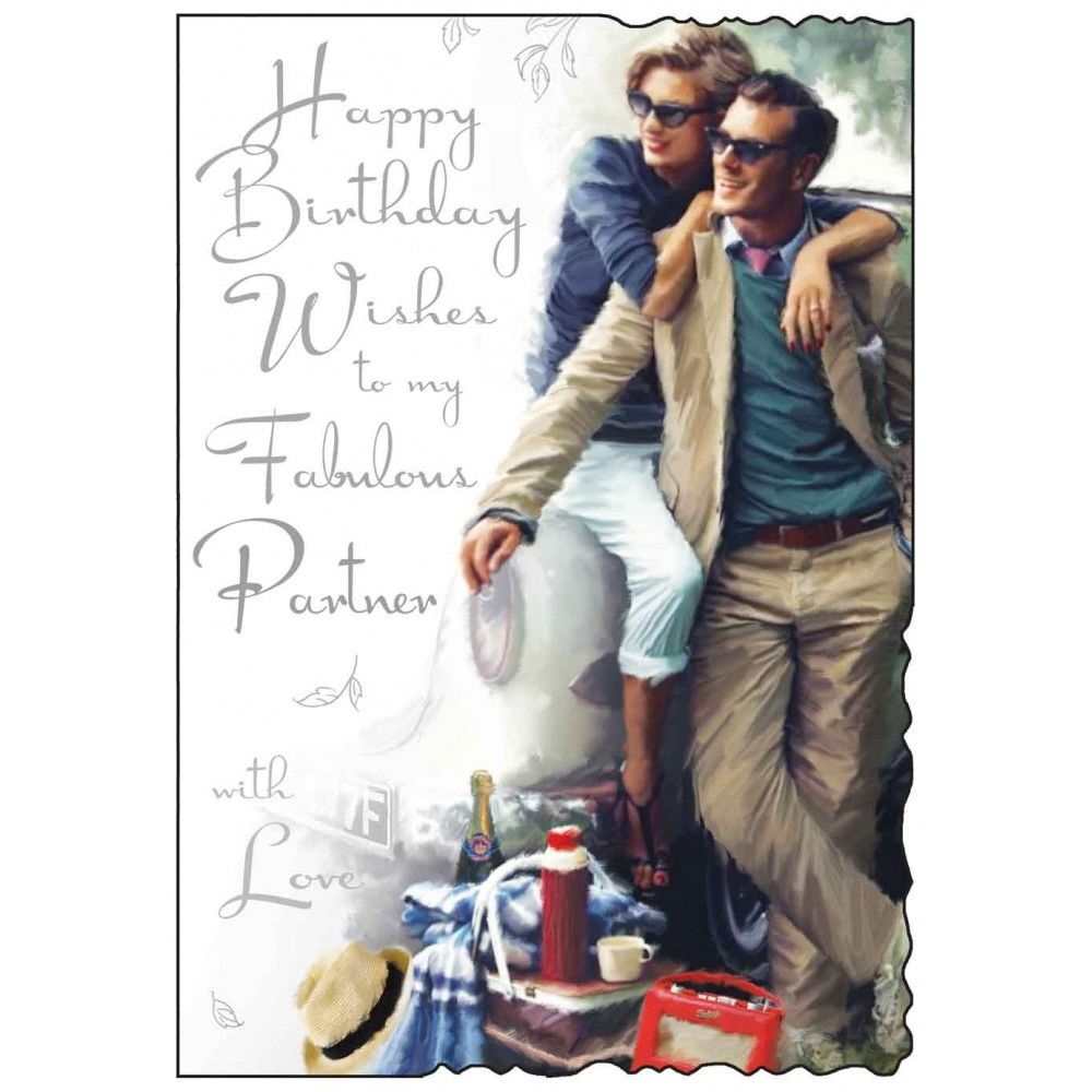To My Fabulous Partner Birthday Card