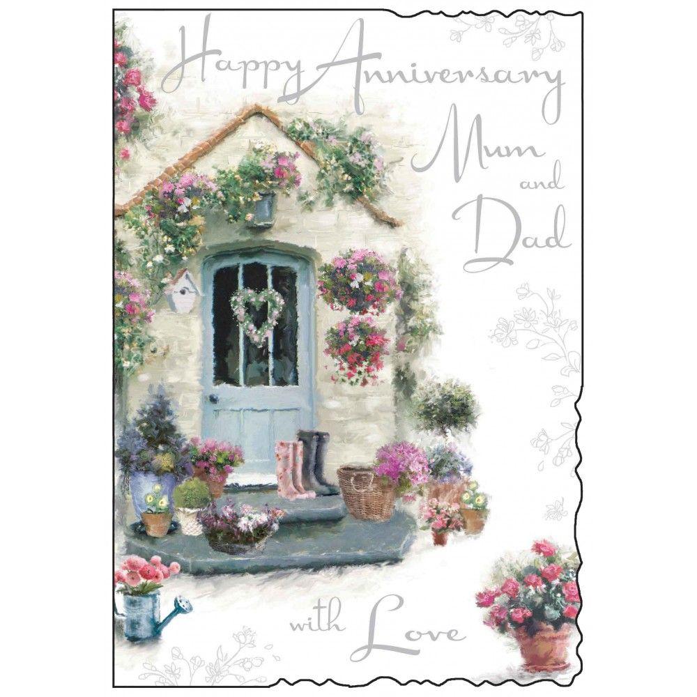 Mum dad happy anniversary card karenza paperie m4hsunfo