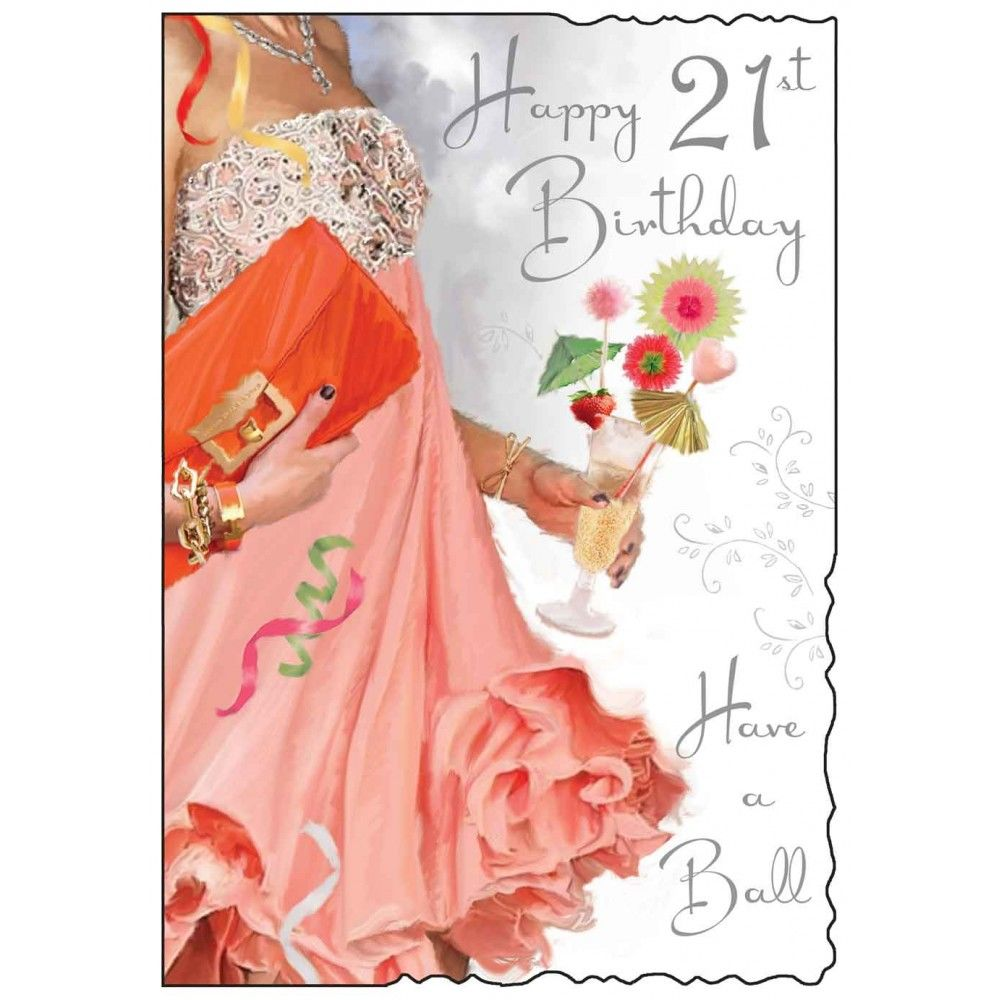 Have A Ball Happy 21st Birthday Card Karenza Paperie