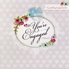 you re engaged card karenza paperie