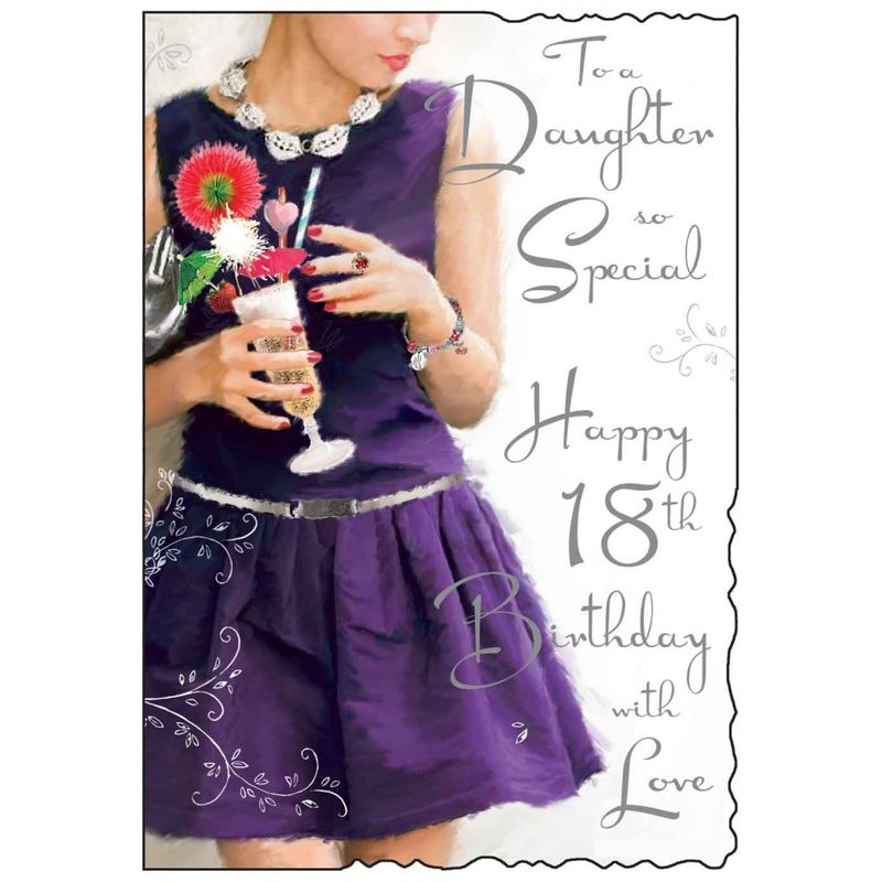 To A Daughter So Special 18th Birthday Card - product images  of