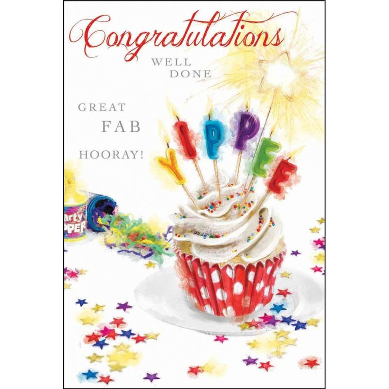 Cake & Candles Congratulations Card - product images  of