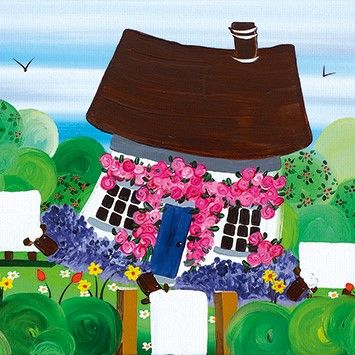 Sheep and Cottage New Home Card - product images