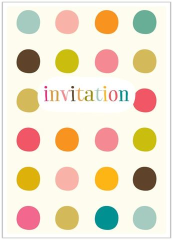 Pack,of,8,Dotty,Invitations,buy dotty party invitations online, buy party invitations  for her online, buy spots invitations online, pack of party invites, pack of invitations, baby shower invites, christening invites, naming day invites