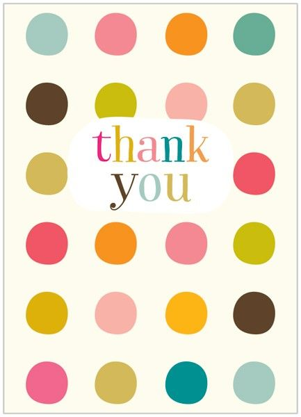 Pack of 8 Dotty Thank You Cards - product images