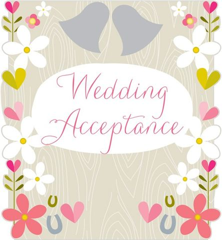 Flowers,&,Horseshoes,Wedding,Acceptance,Card,buy wedding acceptance cards online, acceptance cards for weddings, acceptance card, acceptance card for wedding, wedding day acceptance card, heart acceptance card, horseshoe wedding acceptance card, floral wedding acceptance card, wedding acceptance car
