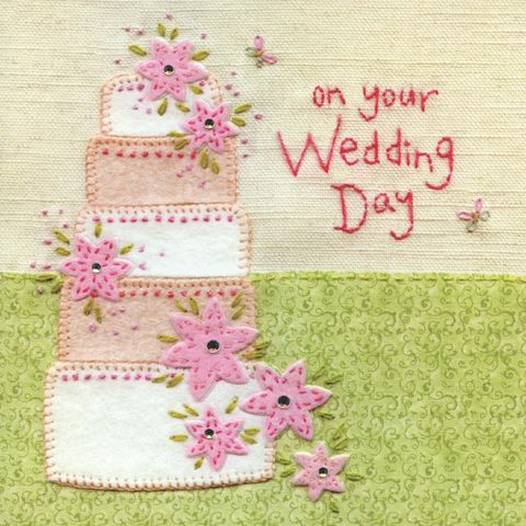Hand,Finished,Wedding,Cake,Day,Card,buy wedding card online, buy beautiful card for wedding online, buy hand finished luxury card for wedding day online, buy special couples wedding day card online, cards for weddings, mr and mrs card, on your wedding day card, wedding cake card, wedding ca