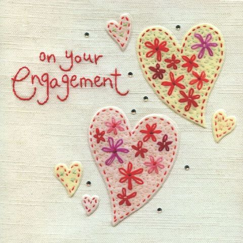 Hand,Finished,Engagement,Card,buy engagement card online, buy cards for engagements online, but hearts engagement cards, fabulous couple engagement card, on your engagement card, heart engagement card, engagement card with hearts