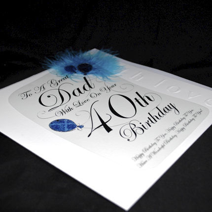 Dad 40th Birthday Card - Large, Luxury Birthday Card - product images  of