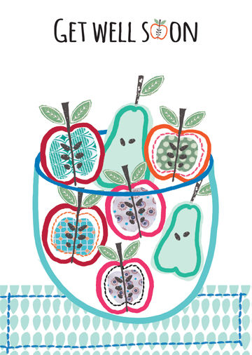 Apples & Pears Get Well Soon Card - product images