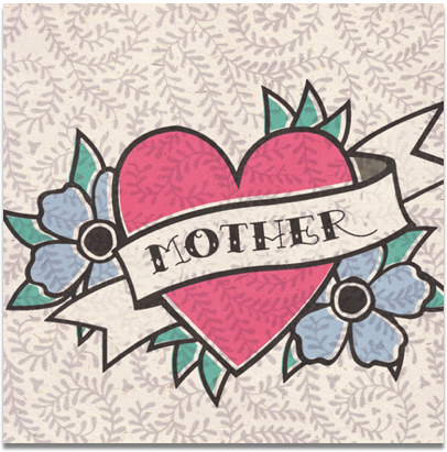 Mother,Heart,Tattoo,Mother's,Day,Card,buy mum card online, buy mother card online, buy retro card online, buy mothers day card online, buy mothering sunday card online, buy mother's day card online, cards for mums, mum card, cards for mothers, retro card