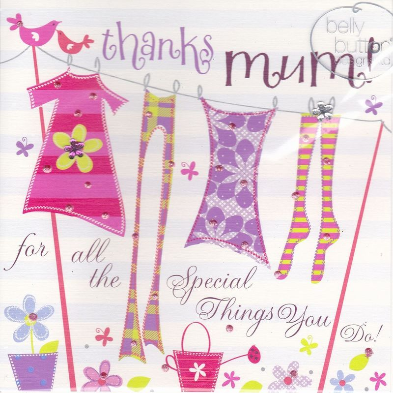 Thanks Mum For All The Special Things You Do Mother's Day Card - product images  of