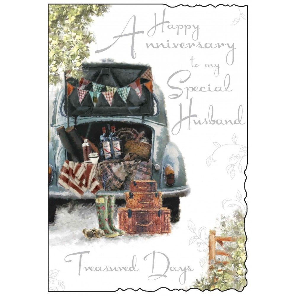 Special Husband Happy Anniversary Card - Karenza Paperie