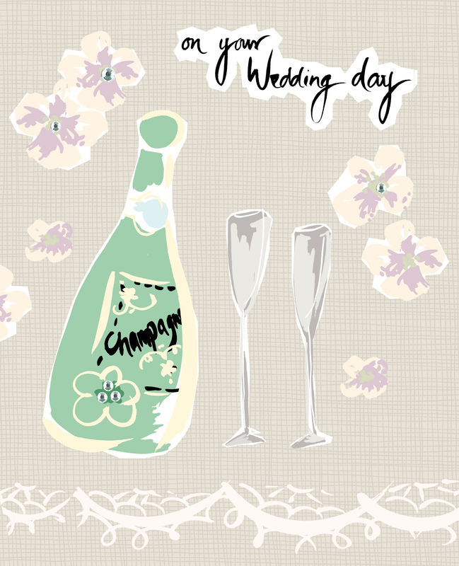 Champagne On Your Wedding Day Card - product images