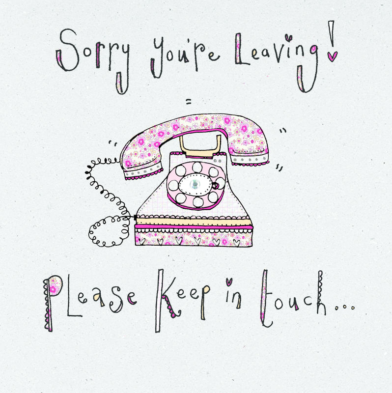 Please Keep In Touch Leaving Card - product images