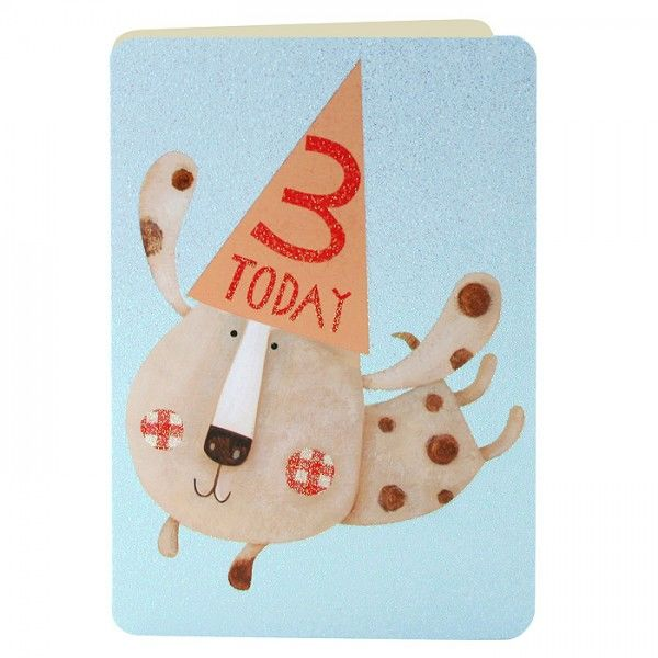 Age 3 Puppy Birthday Card - product images