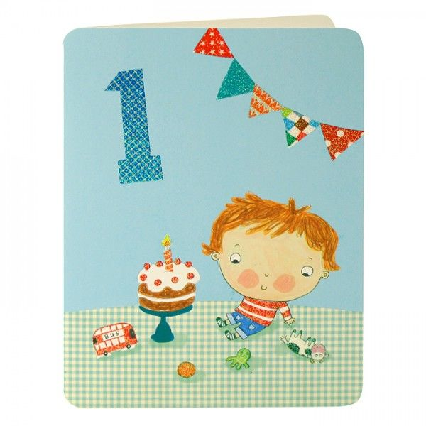 Baby Boys First Birthday Card - product images