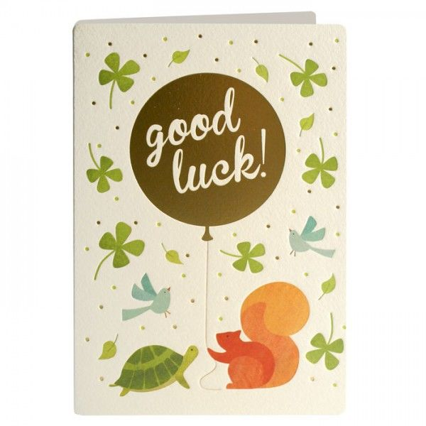 Good Luck Animals & Balloon Card - product images