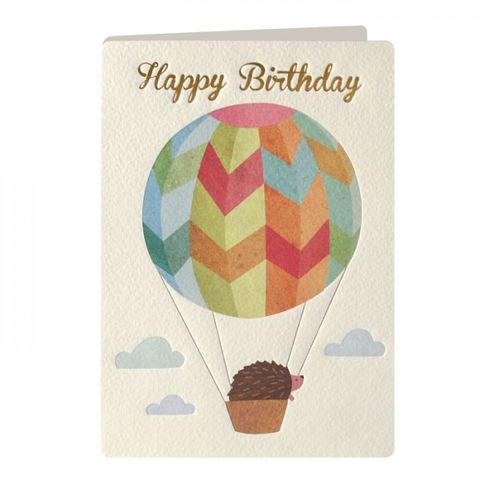 Hedgehog,&,Hot,Air,Balloon,Birthday,Card,buy birthday cards online, buy birthday cards for him online, birthday cards for her, hedgehog birthday cards, birthday cards with hedgehogs, animal birthday cards, hot air balloon birthday card, birthday cards with hot air balloons, male birthday cards,